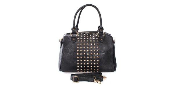 Dámská černá kabelka se cvočky London Fashion