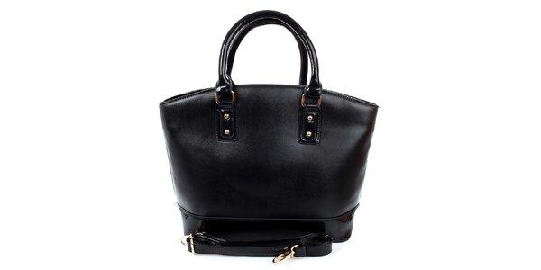 Dámská velká černá kabelka London Fashion