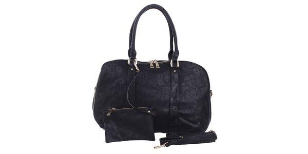 Dámská černá kabelka s peněženkou London Fashion