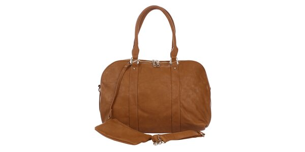 Dámská hnědá kabelka s peněženkou London Fashion