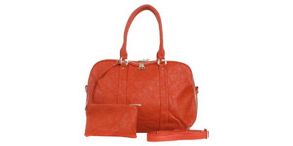 Dámská cihlově červená kabelka s peněženkou London Fashion