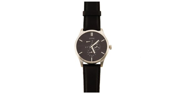 Pánské černé minimalistické hodinky Guess