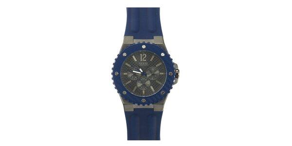 Pánské modré analogové hodinky Guess