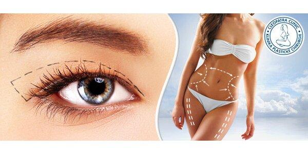 20% sleva na operaci očních víček nebo liposukci