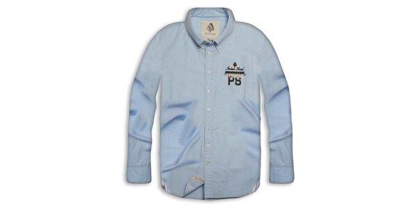 Pánská světle modrá bavlněná košile Paul Stragas