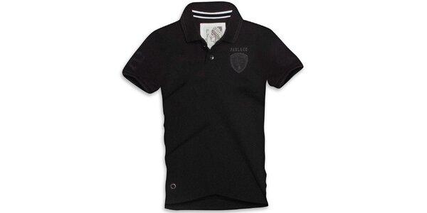 Pánské černé polo triko s krátkým rukávem Paul Stragas