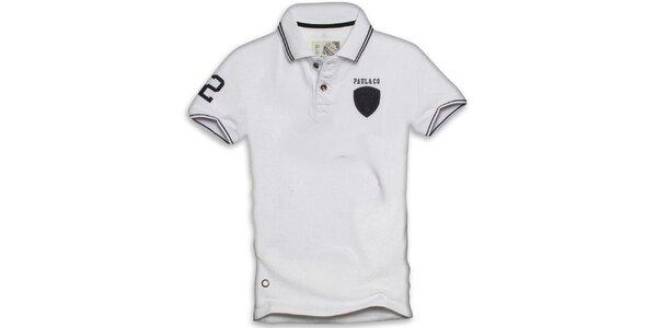 Pánské bílo polo triko s krátkým rukávem Paul Stragas