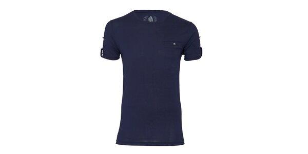 Pánské tmavě modré tričko Paul Stragas