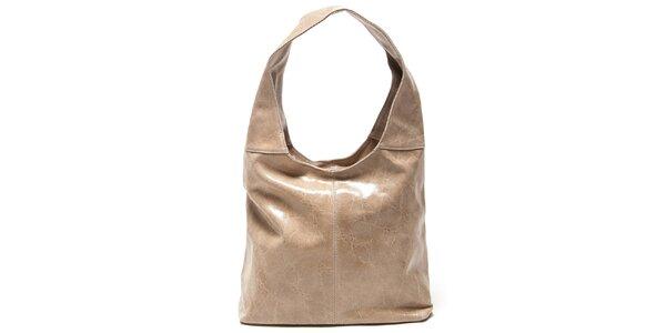 Dámská béžová kabelka s jedním uchem Mangotti
