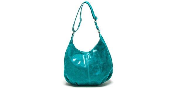 Dámská tyrkysová kabelka s nastavitelným popruhem Mangotti
