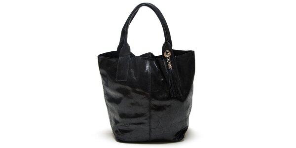Dámská černá kabelka se dvěma uchy Mangotti