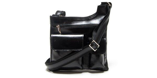 Dámská černá kabelka Mangotti s vnějšími kapsami