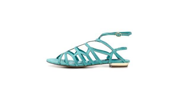 Dámské tyrkysové páskové sandálky Blink