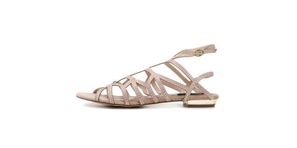 Dámské béžové páskové sandálky Blink