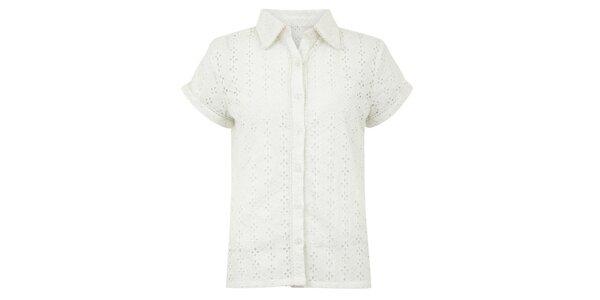 Dámská bílá perforovaná halenka Uttam Boutique