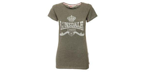 Dámské šedé tričko Lonsdale s potiskem