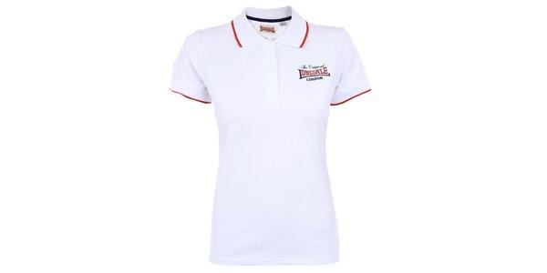 Dámské bílé polo tričko Lonsdale