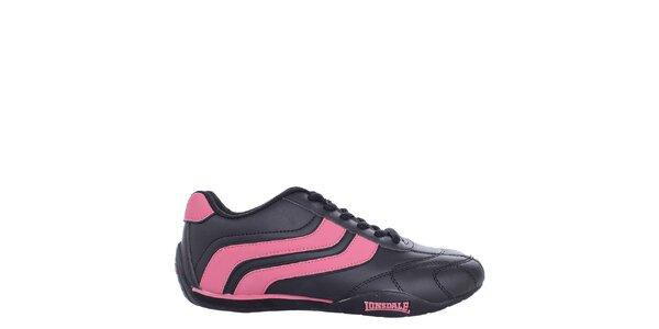 Dámské černo-růžové tenisky Lonsdale