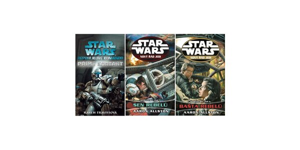 STAR WARS - set 3 knih