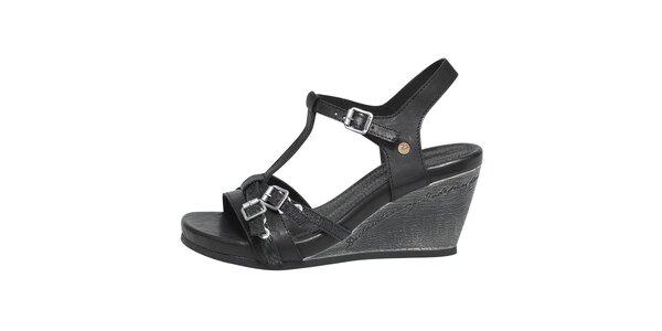Dámské černé sandály s přezkami Buggy