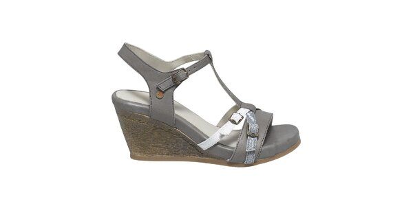 Dámské šedé sandály s přezkami Buggy