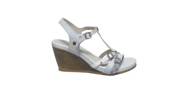 Dámské bílé sandály s přezkami Buggy