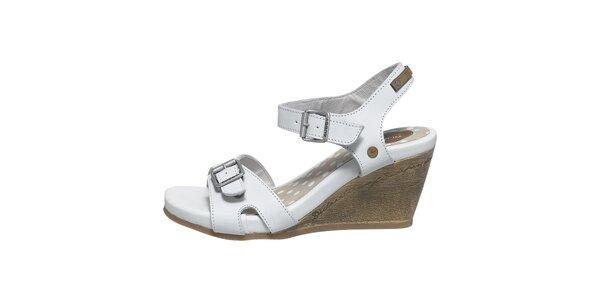 Dámské bílé sandálky na klínku Buggy