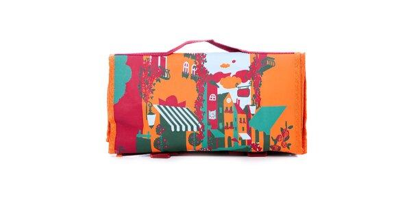 Dámská oranžovo-zelená nákupní taška Rosalita McGee