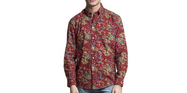 Pánská vícebarevná košile s dlouhým rukávem Yhoss