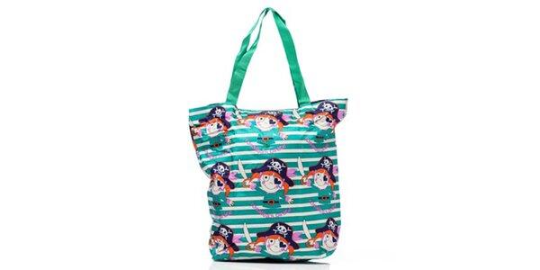 Dámská pruhovaná nákupní taška s obrázky Rosalinda McGee