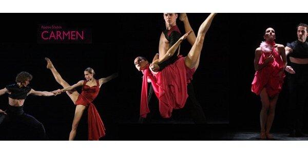280 Kč za dvě vstupenky na moderní balet Carmen v Národním divadle v Brně.