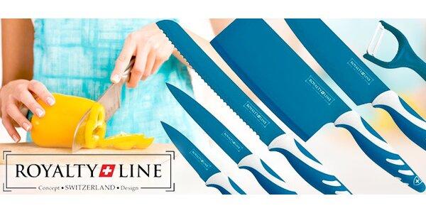 5dílná sada barevných nožů s nepřilnavým povlakem