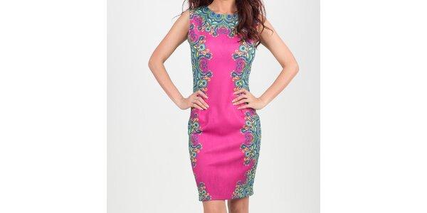 Dámské růžové šaty s květinovým vzorem Chaser