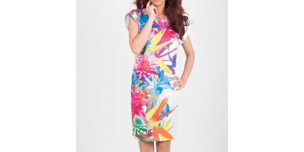 Dámské pestrobarevné květinové šaty Chaser
