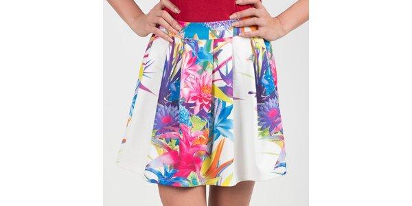Dámská bílá sukně s květy Chaser