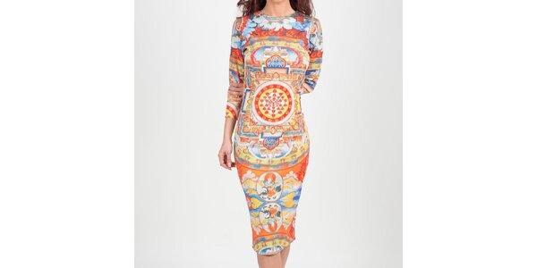 Dámské šaty s indickým vzorem Chaser