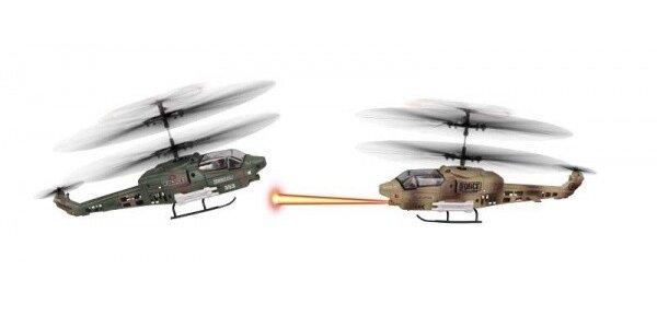 FLEG tříkánálový vrtulník na dálkové ovládání s GYROSKOPEM - 2 vrtulníky, které…