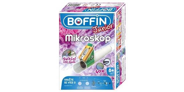 Boffin Junior stavebnice funkční mikroskopp, který zvětšuje až 40x - pro…