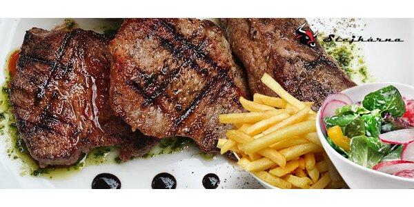 Steaková hostina v dejvické Stejkárně pro dva (600 g)