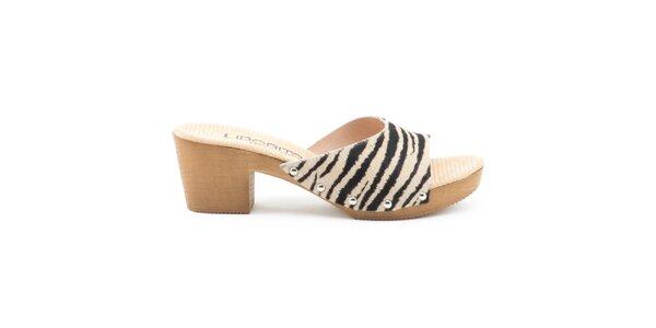 Dámské kožené sandály se zebrovaným páskem Liberitae