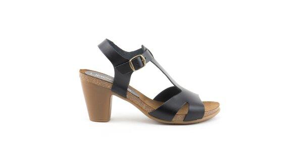 Dámské černé sandály s přezkou Liberitae