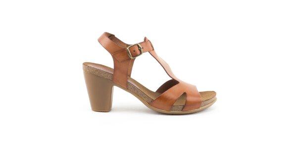 Dámské hnědé sandály s přezkou Liberitae