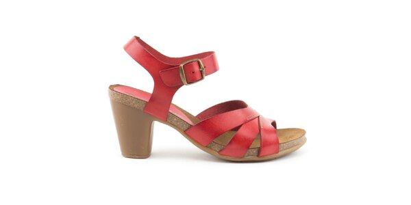 Dámské kožené červené sandálky Liberitae