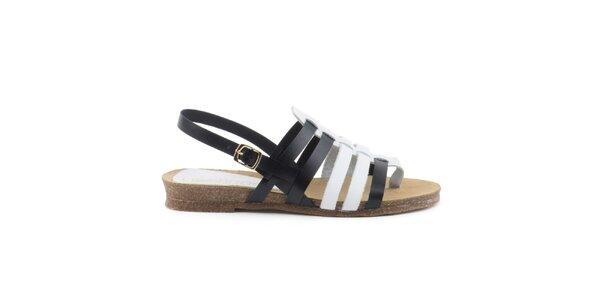 Dámské černobílé páskové sandálky Liberitae