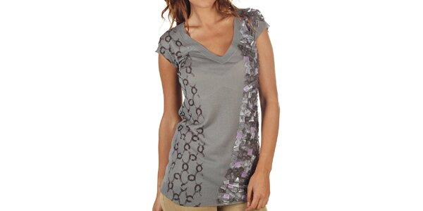Dámské šedé prodloužené tričko Custo Barcelona
