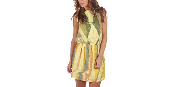 Dámské vícebarevné šaty s flitry Custo Barcelona