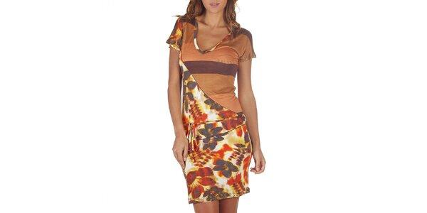 Dámské pestrobarevné asymetrické šaty Custo Barcelona