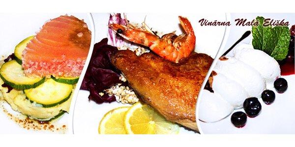 Francouzské degustační menu pro dva