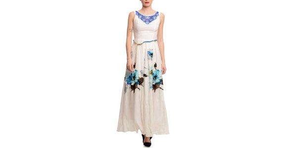 Dámské dlouhé šaty s ozdobným výstřihem Butik 7279