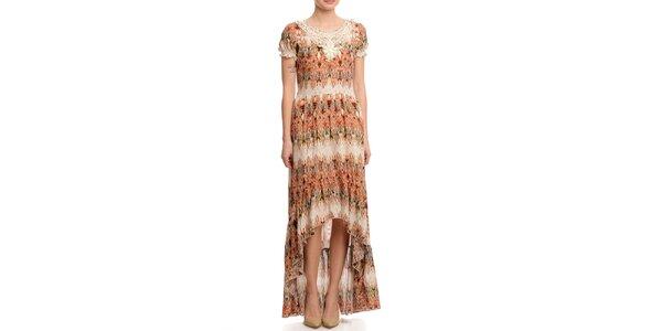 Dámské dlouhé šaty s asymetrickou sukní Butik 7279